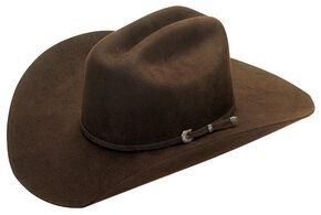 Dallas Chocolate Felt Cowboy Hat, Chocolate, hi-res