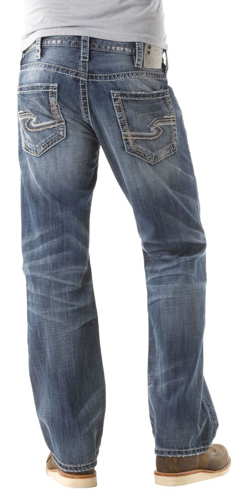 Silver Zac Relaxed Fit Straight Leg Jeans, Med Stone, hi-res