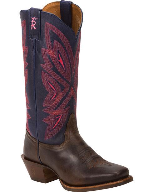 Tony Lama Tobacco Faro 3R Western Cowgirl Boots - Square Toe , , hi-res