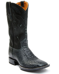 Moonshine Spirit Men's Black Tully Western Boots - Wide Square Toe, Black, hi-res