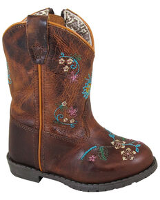 Smoky Mountain Toddler Girls' Florence Western Boots - Round Toe, Brown, hi-res