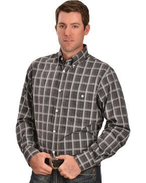 Gibson Trading Co. Grey Plaid Long Sleeve Shirt, Grey, hi-res