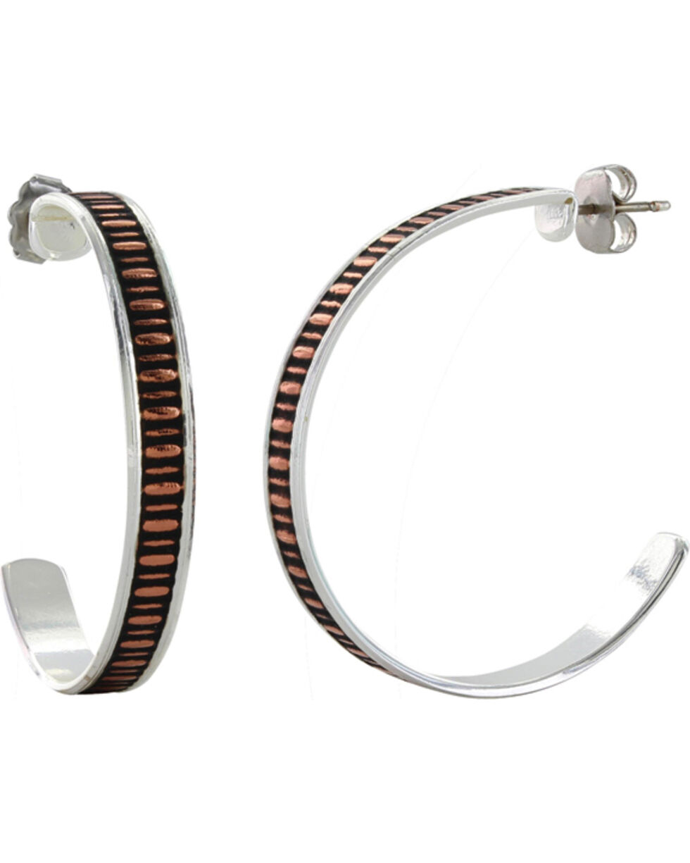 Montana Silversmiths Crosscut Painted Grosgrain Ribbon Earrings, Multi, hi-res