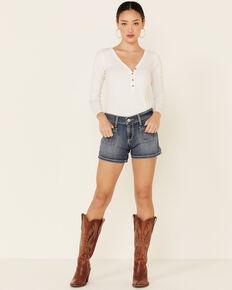 Ariat Women's Mid-Rise Boyfriend Shorts, Blue, hi-res