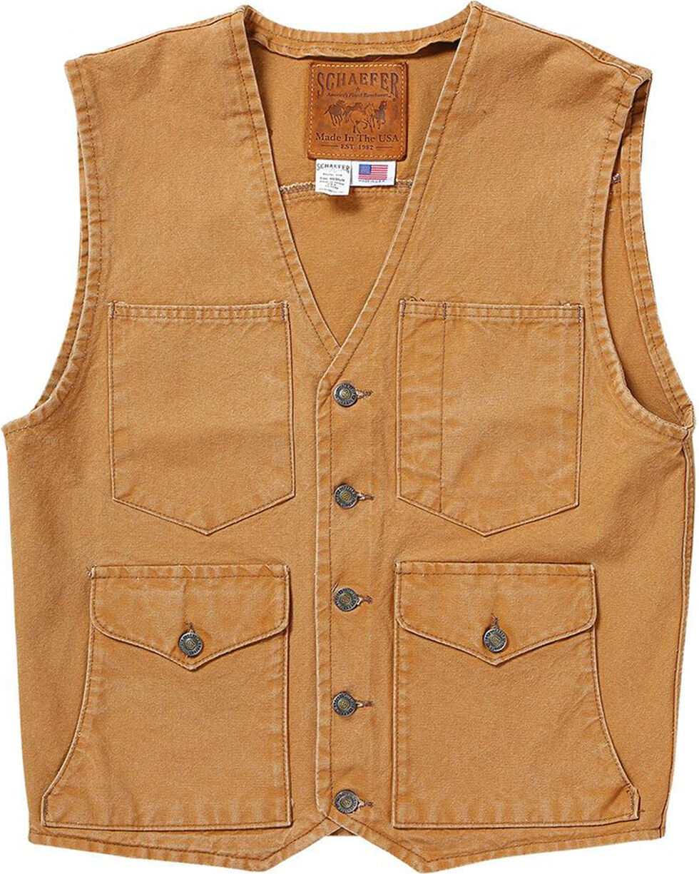 Schaefer Outfitter Men's Suntan Vintage Mesquite Vest - 3XL, Tan, hi-res