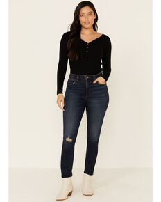 Wrangler Retro Women's Tegan Skinny Jeans, Blue, hi-res