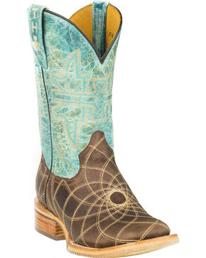Tin Haul Dreamcatcher Cowgirl Boots - Square Toe, Brown, hi-res