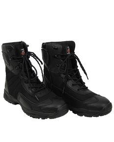 Milwaukee Motorcycle Clothing Co. Men's Commander Moto Boots - Round Toe, Black, hi-res