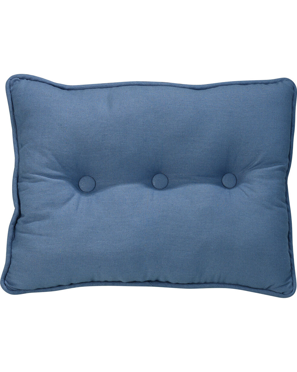 HiEnd Accents Monterrey Tufted Pillow , Indigo, hi-res