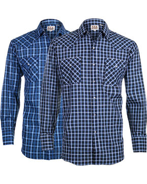 Ely Cattleman Men's Assorted Classic Plaid Long Sleeve Shirt , Multi, hi-res