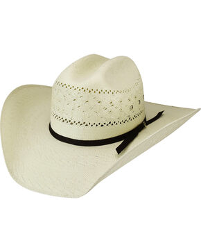 Bailey Men's Roswell 15X Straw Western Hat, Natural, hi-res