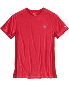 Carhartt Men's Crimson Heather Force Extremes Short Sleeve T-Shirt, Red, hi-res