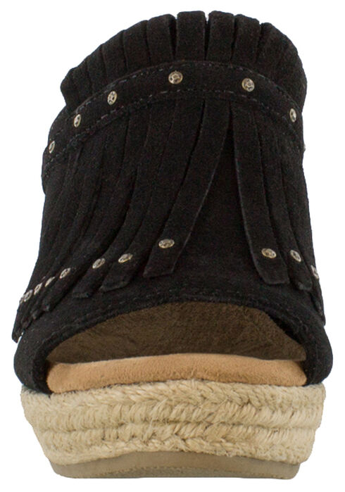 Minnetonka Women's Black Quinn Wedge Sandal , Black, hi-res