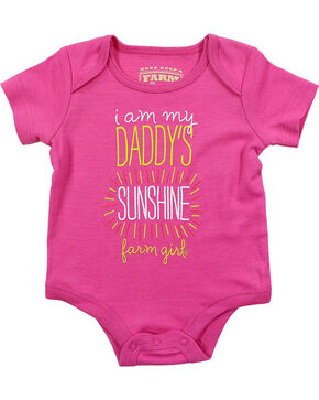 Farm Girl Infant Girls' Pink Daddy's Sunshine Onesie, Pink, hi-res