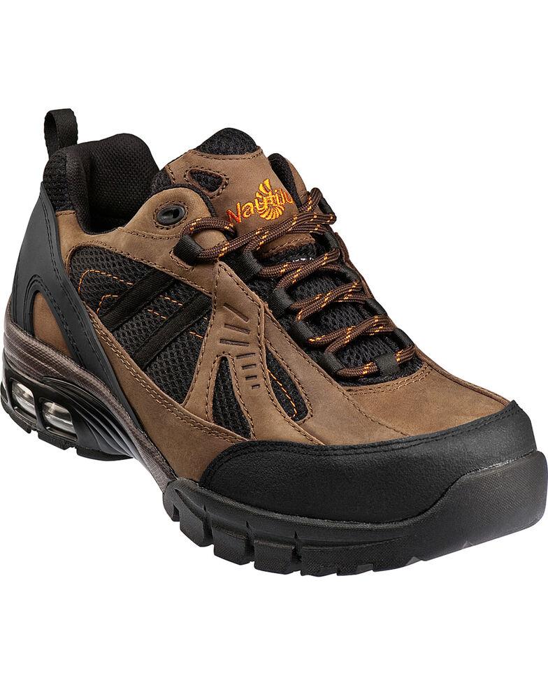 Men's Nautilus Men's Brown Metal Free Work Athletic Shoes - Comp Toe , Brown, hi-res