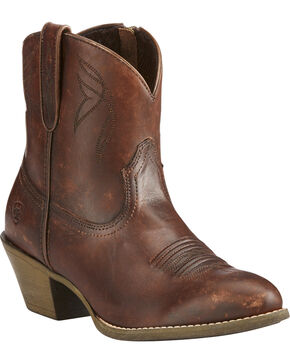 Ariat Women's Brown Darlin Naturally Distressed Boots - Pointed Toe , Brown, hi-res