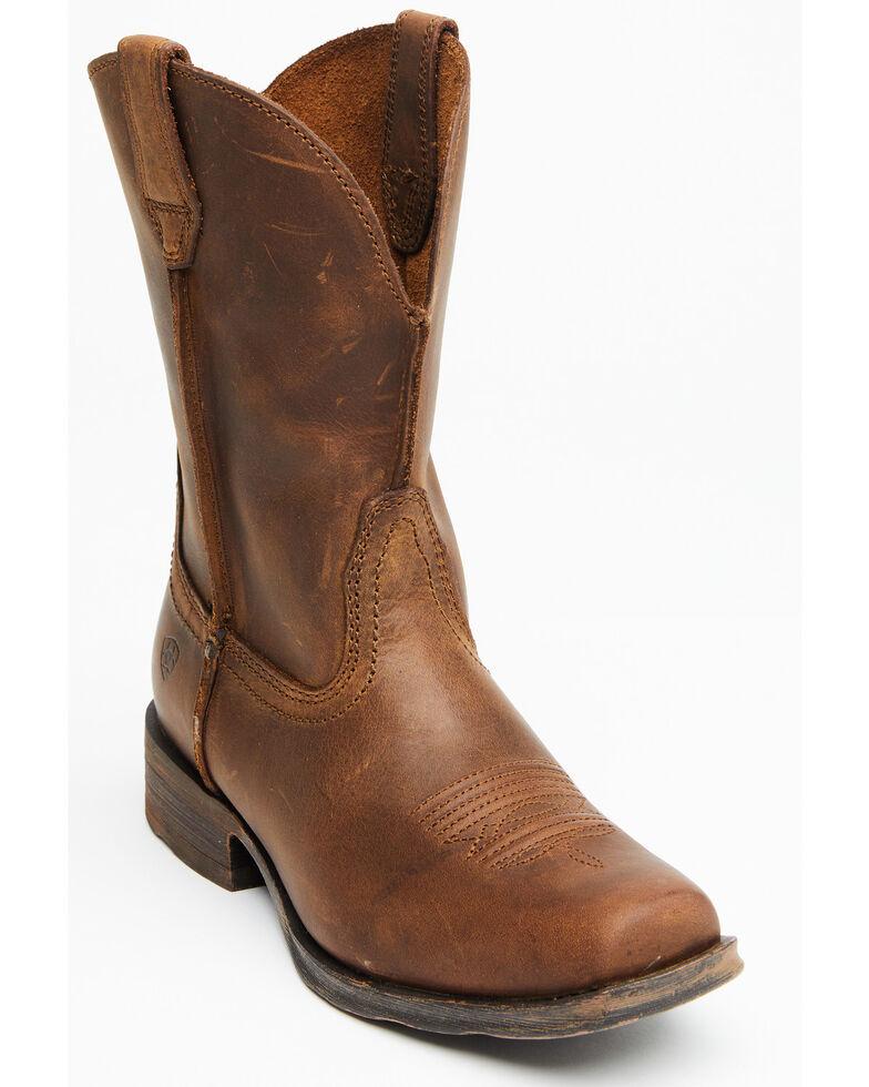 Ariat Rambler Cowgirl Boots - Square Toe , Brown, hi-res