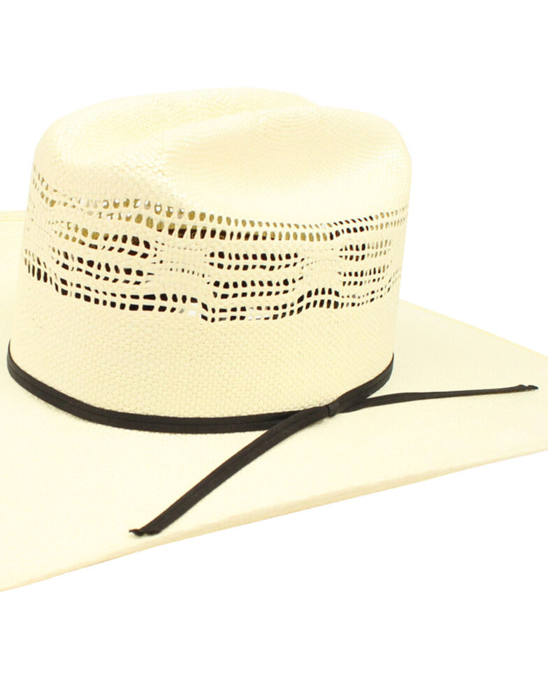 Ariat Men's Bangora Double S Straw Cowboy Hat , Natural, hi-res