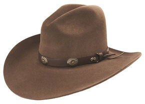 Bailey Western Tombstone Pecan Brown Hat, Pecan, hi-res