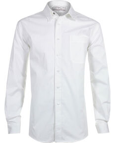 Cinch Men's White Modern Fit Long Sleeve Western Shirt , White, hi-res