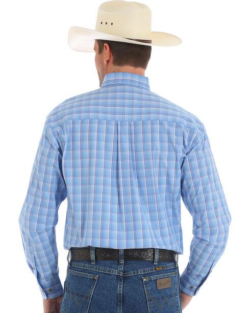 Wrangler George Strait Men's Blue Long Sleeve Shirt , Blue, hi-res