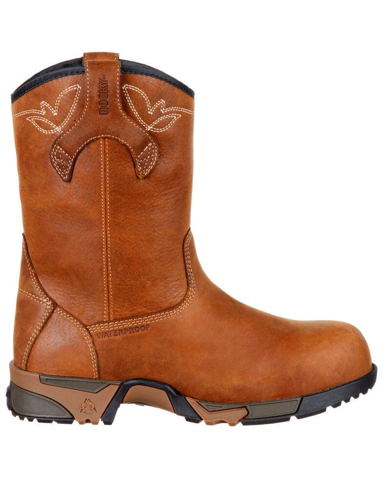 "Rocky Women's Aztec Waterproof 9"" Work Boots - Safety Toe, Brown, hi-res"