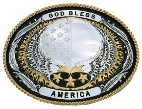 Montana Silversmiths American Cowboy Western Belt Buckle, Multi, hi-res