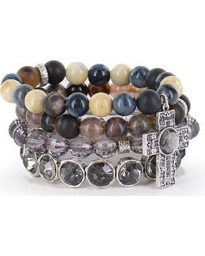 Shyanne Women's Multi-Layered Faith Bracelets, Silver, hi-res