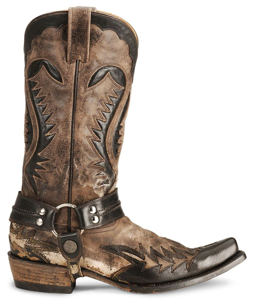9330e341aed Stetson Brown Harness Cowboy Boots - Snip Toe