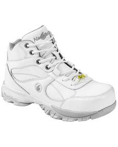 Nautilus Men's White Athletic Work Shoes - Steel Toe, White, hi-res