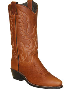Abilene Boots Women's Soft Textured Western Boots - Snip Toe, Brown, hi-res