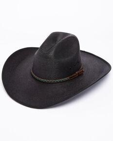 1b3e11f20d083 Cody James Mens Black Palm Duke Crease Cowboy Hat