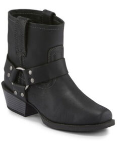 Justin Women's Black Jungle Western Booties - Snip Toe, Black, hi-res