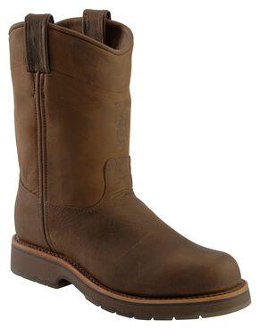 Chippewa Chocolate Apache Pull-On Work Boots - Steel Toe, Chocolate, hi-res