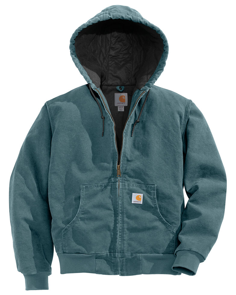 Carhartt Women's Active Duck Quilted Work Jacket, Light Blue, hi-res