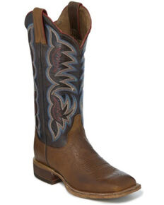 Justin Women's Katie Tan Western Boots - Square Toe, Brown, hi-res