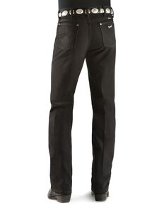 Wrangler Men's 933 Silver Edition Slim Fit Jeans , Black Denim, hi-res