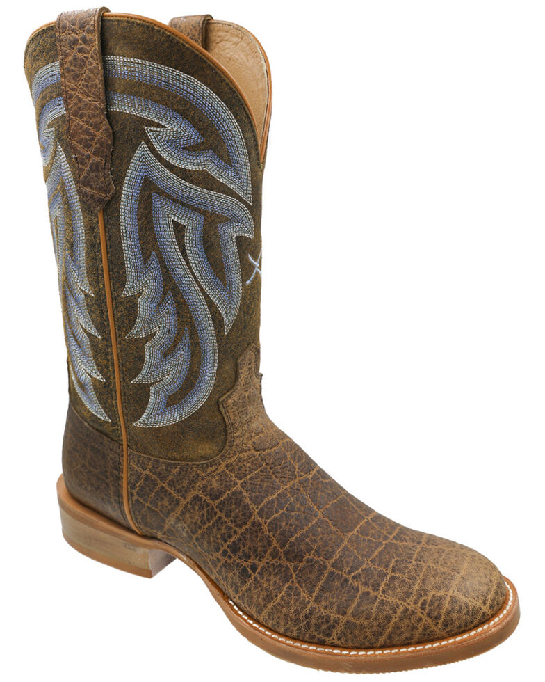 Twisted X Men's Beown Rancher Western Boots - Round Toe, Brown, hi-res