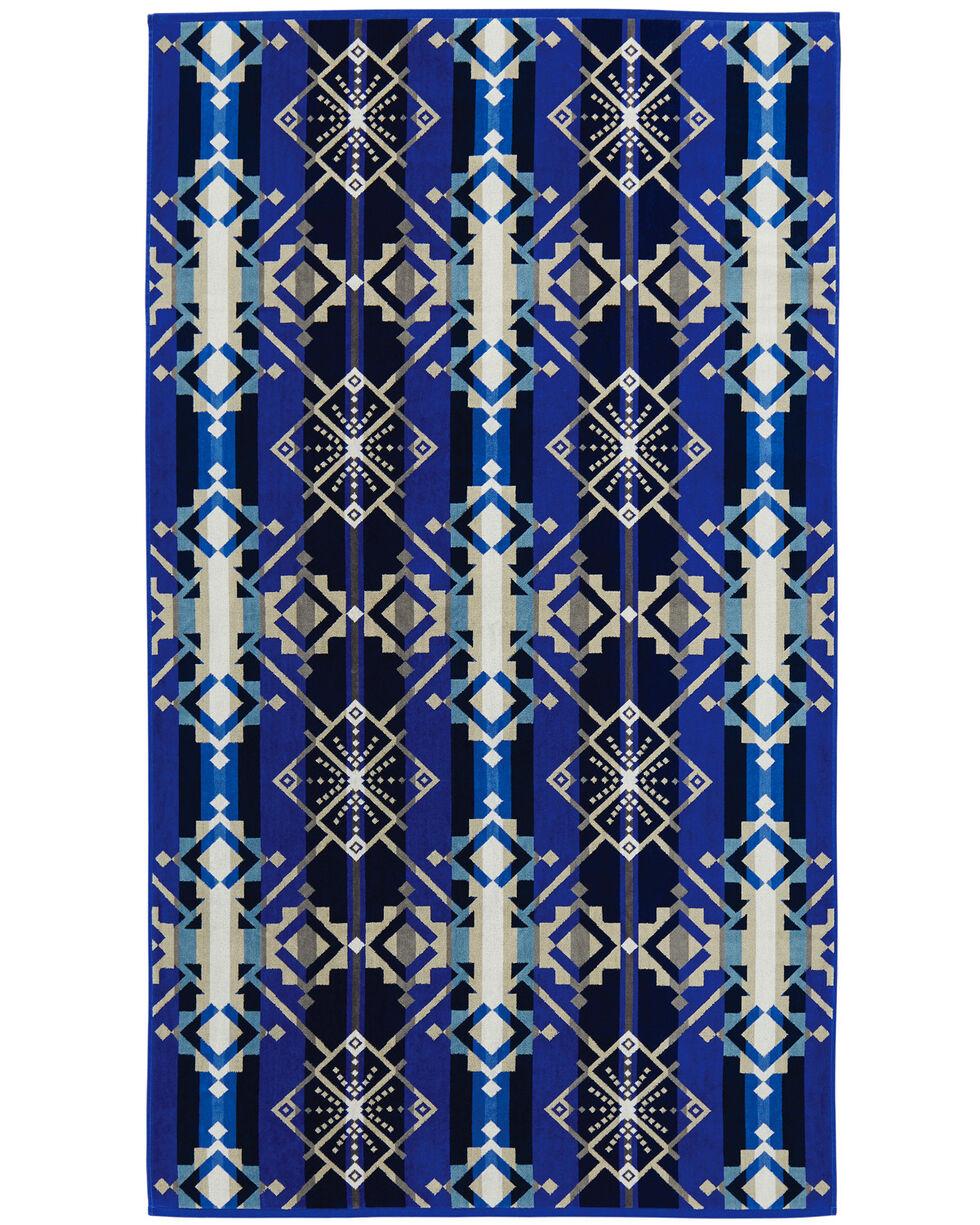 Pendleton Blue Spa Star Wheels Towel , Multi, hi-res