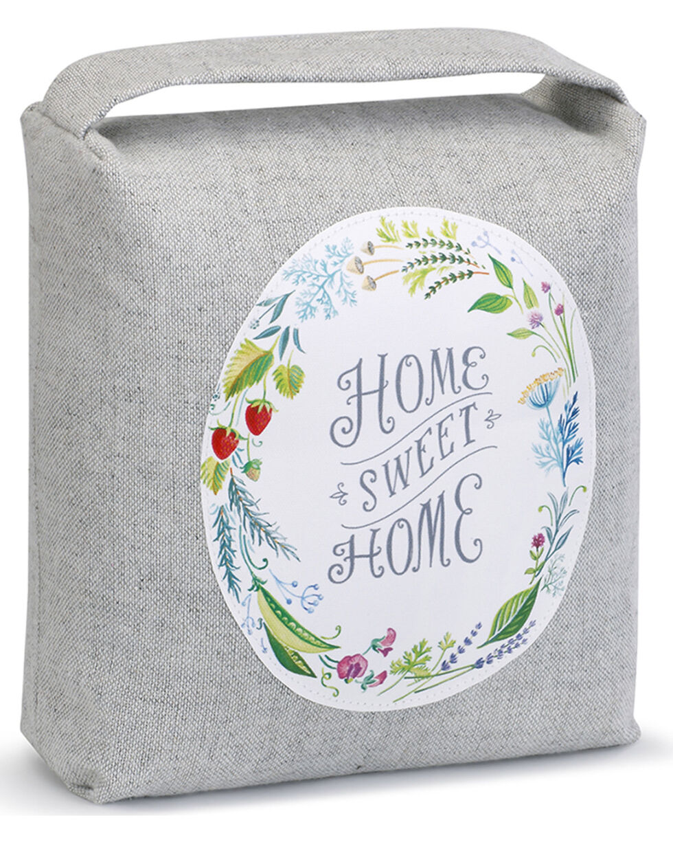 Demdaco Home Sweet Home Door Stopper , Grey, hi-res
