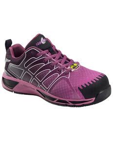 Nautilus Women's Slip Resistant Athletic Work Shoes - Composite Toe, Purple, hi-res