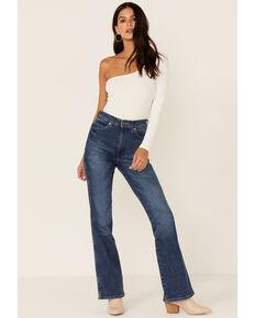 Wrangler Women's Westward Heritage Dark Wash High Rise Flare Jeans, Blue, hi-res