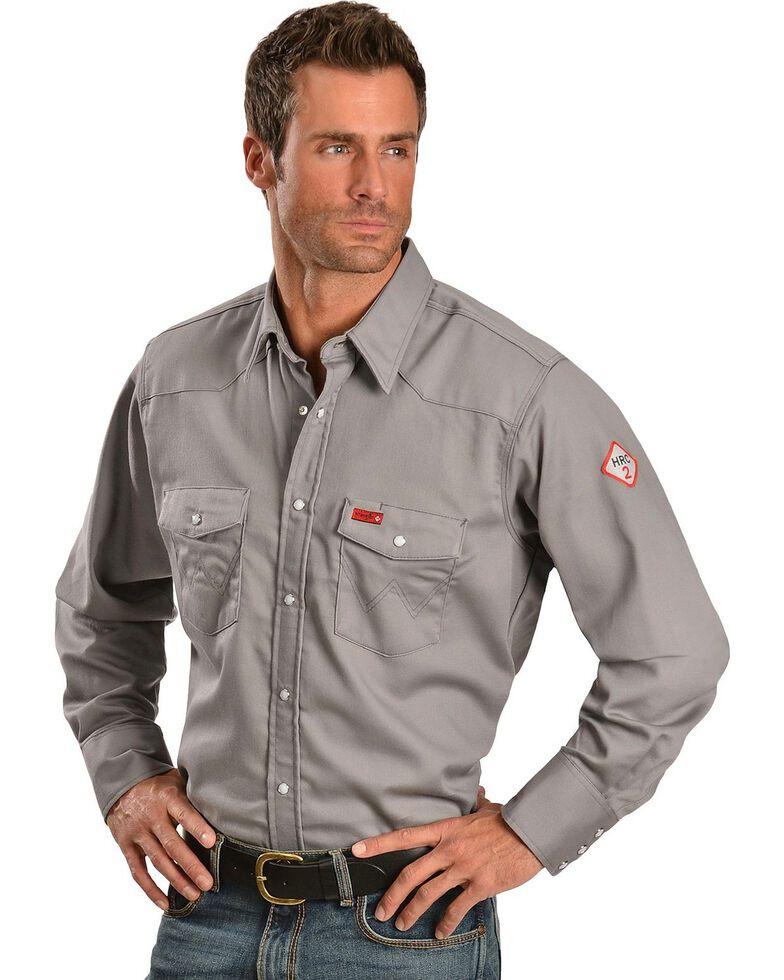 3e72d14deb6 Wrangler Lightweight Flame Resistant Western Work Shirt