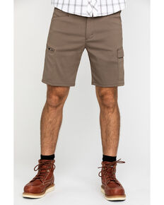 Wrangler All-Terrain Men's Morel Utility Asymmetric Cargo Shorts , Brown, hi-res