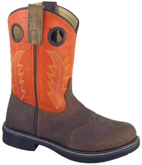 Smoky Mountain Youth Boys' Buffalo Wellington Western Boots - Round Toe, Brown, hi-res