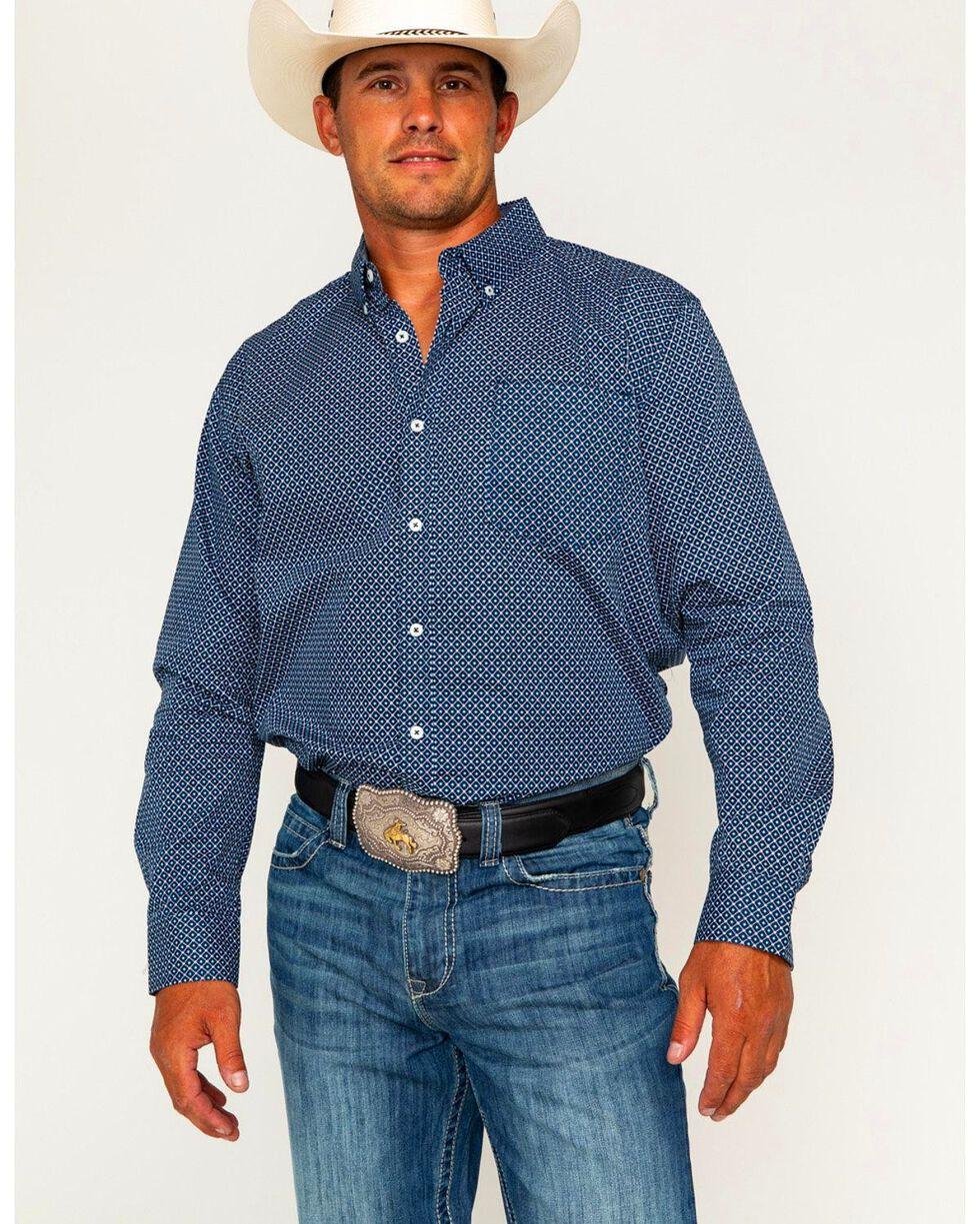 Cody James Men's Mountain Sky Long Sleeve Button Down Shirt - Tall, Black, hi-res