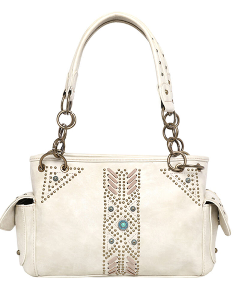 Montana West Women's Aztec Satchel Bag, Beige/khaki, hi-res