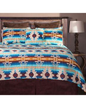 Carstens Southwest Harvest King Bedding - 5 Piece Set, Blue, hi-res