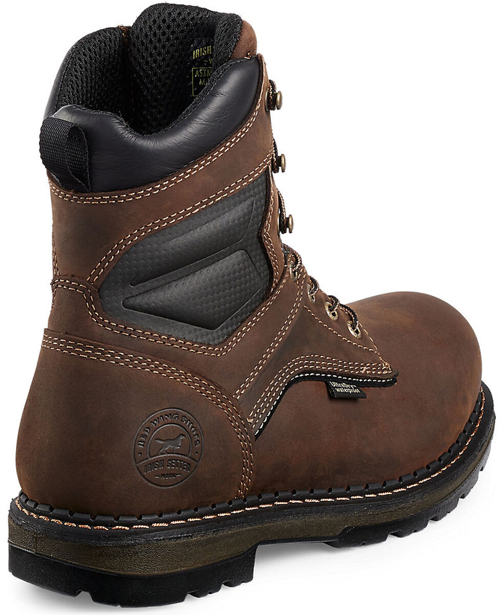 "Irish Setter by Red Wing Shoes Men's Ramsey Waterproof Insulated 8"" Lace-Up Work Boots - Aluminum Toe , Brown, hi-res"