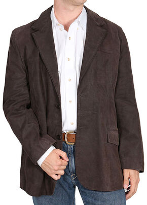 Cody James Men's Blazer , Dark Brown, hi-res